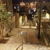 מדרגות אירביד תאורה